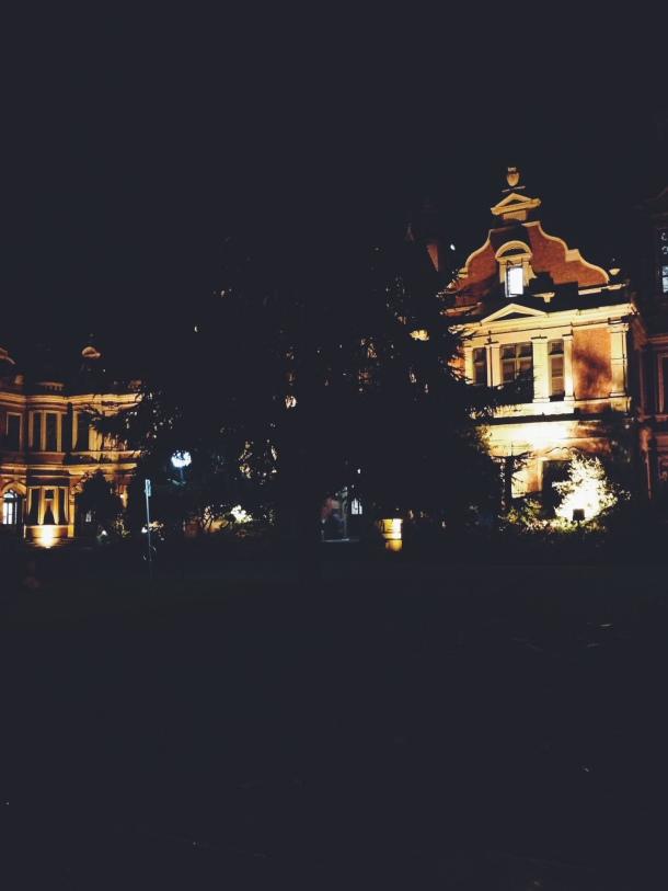 A building at Melbourne Uni