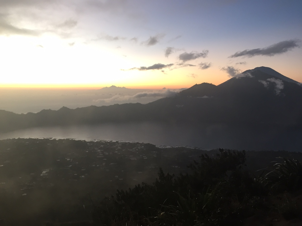 The sunrise at the top at the peak