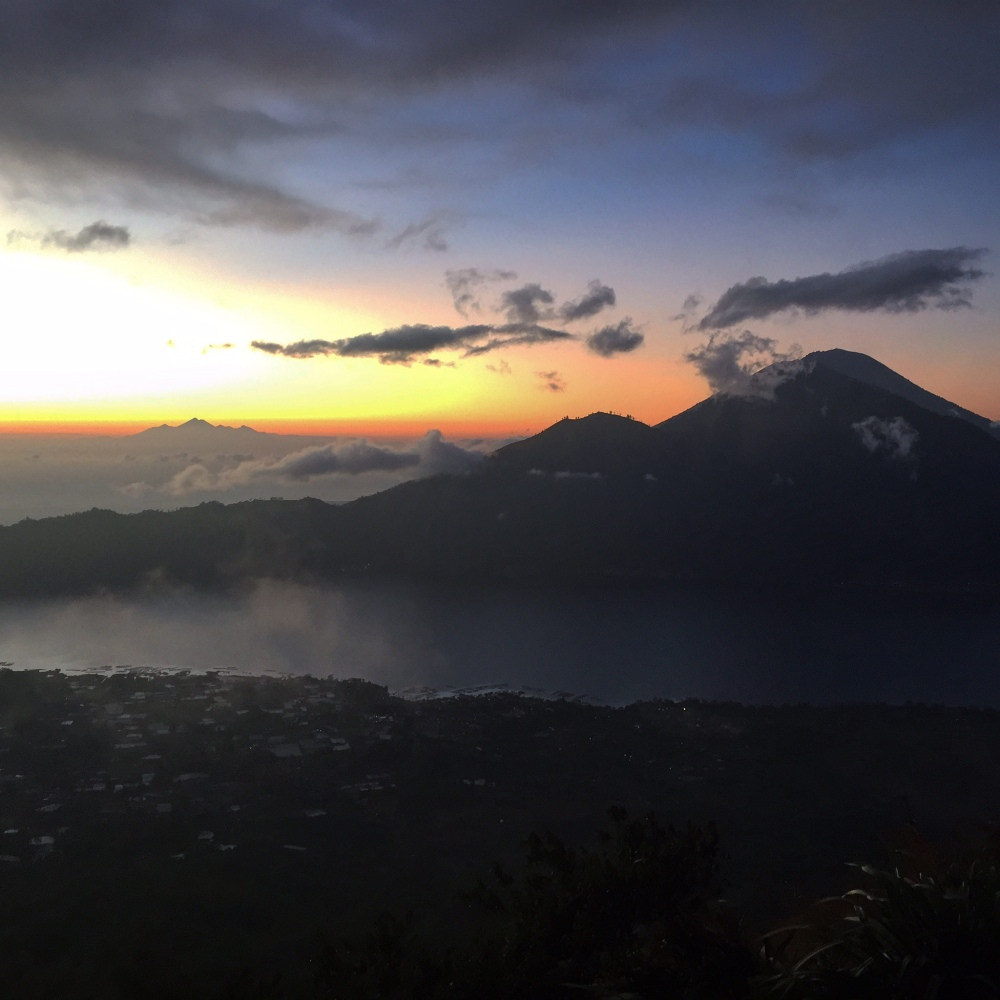 Mt Agung in the distance